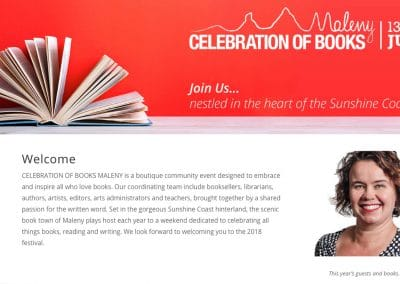 Event Collateral: Celebration of Books Maleny 2018